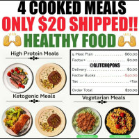 $20 for 4 keto ( ketogenic ) meals - it is only $5 per meal 🥰