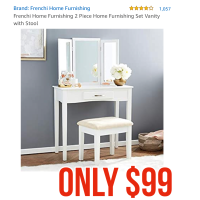 Vanity with chair only $99