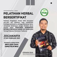 Daftar Kota & Jadwal Pelatihan Herbal 2021