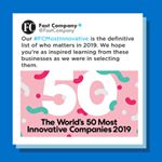 Participant recognized as one of Fast Company's Most Innovative Companies!